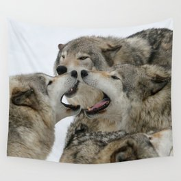 Shouting Match Wall Tapestry