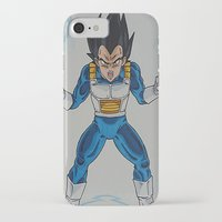 vegeta iPhone & iPod Cases featuring Prince Vegeta by bmeow