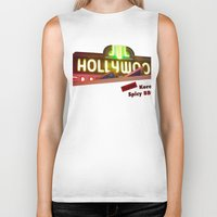 hollywood Biker Tanks featuring Hollywood Neon by Umbrella Design
