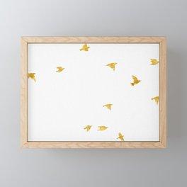 Raven Birds in Gold Copper Bronze Framed Mini Art Print
