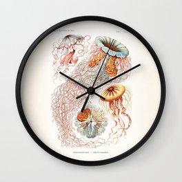 Jellyfish Illustration Wall Clock
