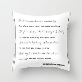 Sonnet 18 AA012 Throw Pillow