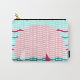Hello Ocean Pink Sails Carry-All Pouch