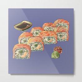 Eukaryotic Sushi Roll Metal Print