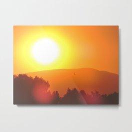 Golden Sunset in Spain Metal Print