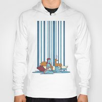 swimming Hoodies featuring SWIMMING POOL by Ale Giorgini