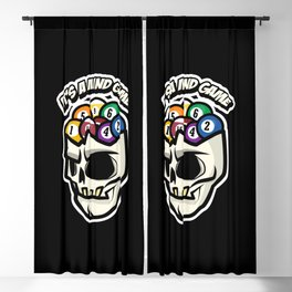 It's A Mind Game Billiard Lover Saying design Art Gift Blackout Curtain