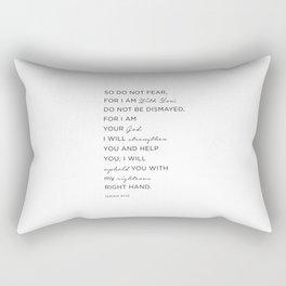 Isaiah 41:10 Bible Quote, Christian Gifts Rectangular Pillow