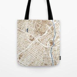 Los Angeles California City Map Tote Bag