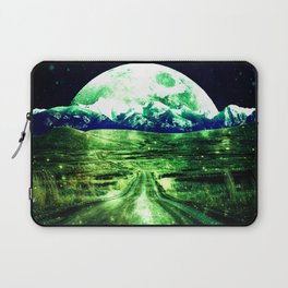 Highway to Eternity  Green Blue Laptop Sleeve