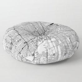 Houston White Map Floor Pillow