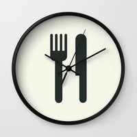 food Wall Clocks featuring Food by Alejandro Díaz