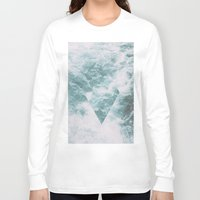 norway Long Sleeve T-shirts featuring Norway - Nebula - with triangles! by Andrej Stern