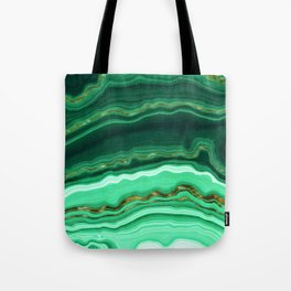 Gold And Malachite Marble Tote Bag