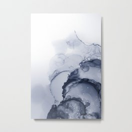 BLUE INK 88 Metal Print