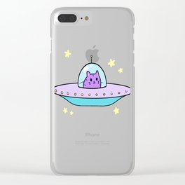 ufc (unidentified flying cat) Clear iPhone Case
