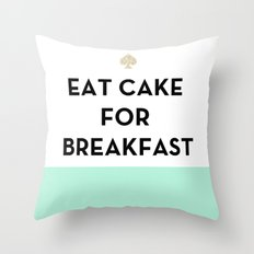 Eat Cake for Breakfast - Kate Spade Inspired Throw Pillow