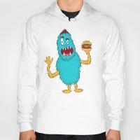 hamburger Hoodies featuring Hamburger! by Chelsea Herrick