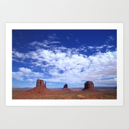 Sky above Monument Valley Art Print