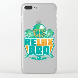 Relax Bro - Lacrosse Clear iPhone Case