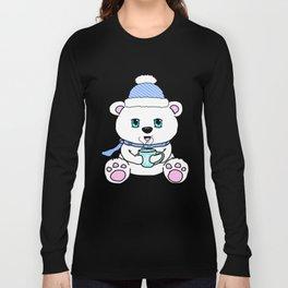 Polar Bear Drinking Hot Chocolate Long Sleeve T-shirt