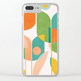 floral shapes IV Clear iPhone Case