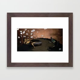 SUNRISE WITH BROKEN PLATES (2004 version) Framed Art Print