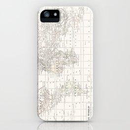 Vintage Cream and White iPhone Case