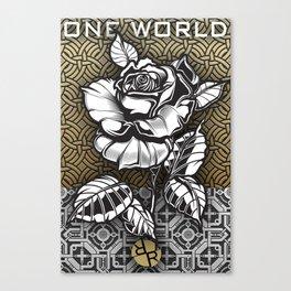 Rubino Metal Rose One World Canvas Print