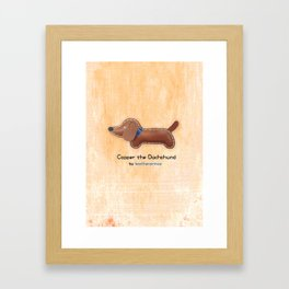 Copper the Dachshund by leatherprince Framed Art Print