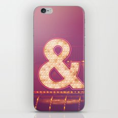 Neon Ampersand iPhone & iPod Skin