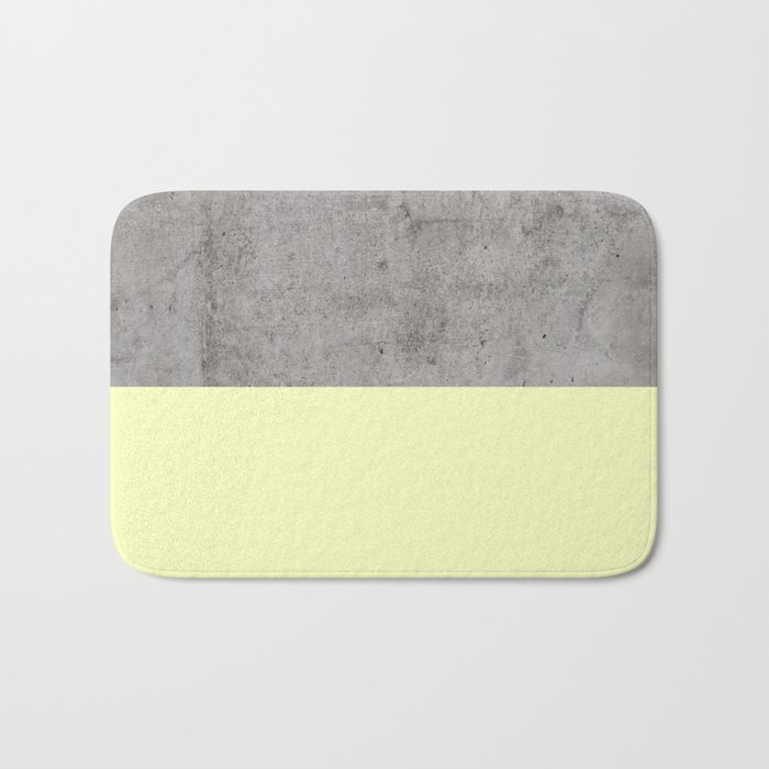 Yellow on Concrete Bath Mat