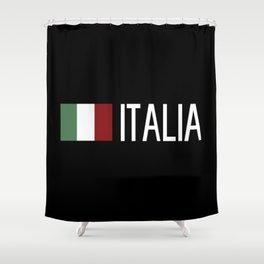 Italy: Italia & Italian Flag Shower Curtain