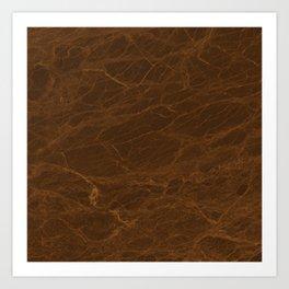 Tawny Verde Marble Art Print