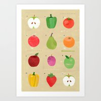 fruit Art Prints featuring Fruit by Jessie Ford