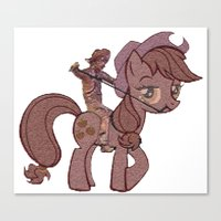 my little pony Canvas Prints featuring My Little Remington Pony by Ancora Imparo