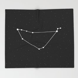 Capricorn Astrology Star Sign Throw Blanket