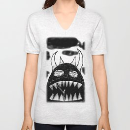 Even monsters need friends 3 Unisex V-Neck
