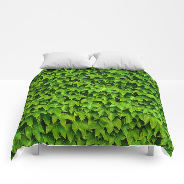 Greenery Luck (Color) Comforters