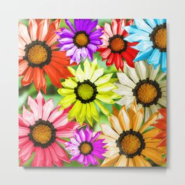 Colorful Flowers Backgrond Metal Print