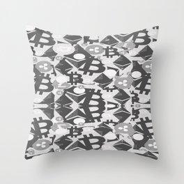 Main cryptocurrency symbols Throw Pillow