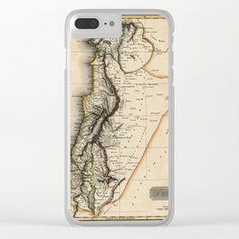 Map of Syria 1817 Clear iPhone Case