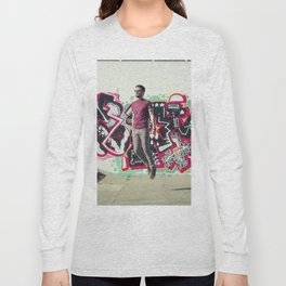 Hipster Abduction Long Sleeve T-shirt