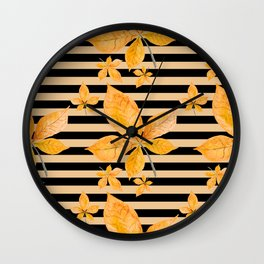 Autumn leaves #14 Wall Clock