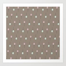 Balloons on Taupe Art Print