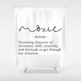 Moxie Definition - Minimalist Black Shower Curtain