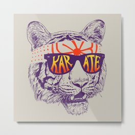 Karate Tiger Metal Print