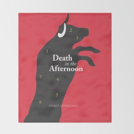 Ernest Hemingway book Cover & Poster - Death in the Afternoon Throw Blanket