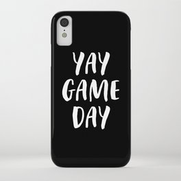 Yay Game Day Football Sports Team White Text iPhone Case