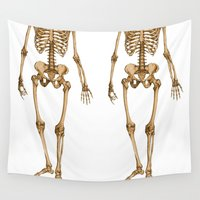 skeleton Wall Tapestries featuring Skeleton  by Barbo's Art